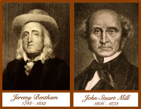 Jeremy Bentham & John Stuart Mills. Retrieved from https://michaeldstark.wordpress.com/2012/11/12/millian-republicans-v-benthamian-democrats/